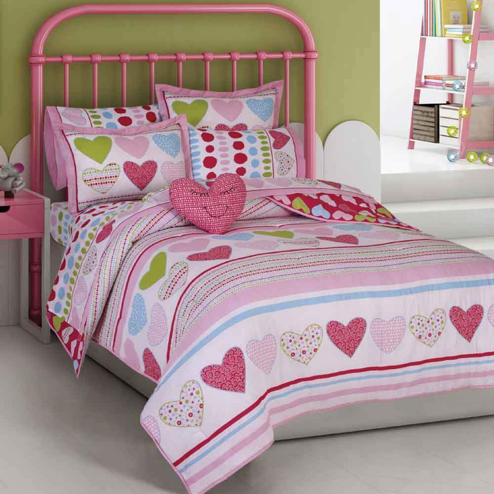 Kid's Heart's Style 4-Pc Comforter Set Kid's Accessories MKS
