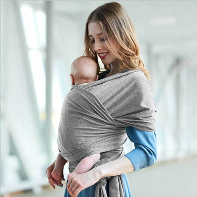 Infants Super Soft Baby Wrap Carrier Women's Accessories Sunshine China Heather Grey