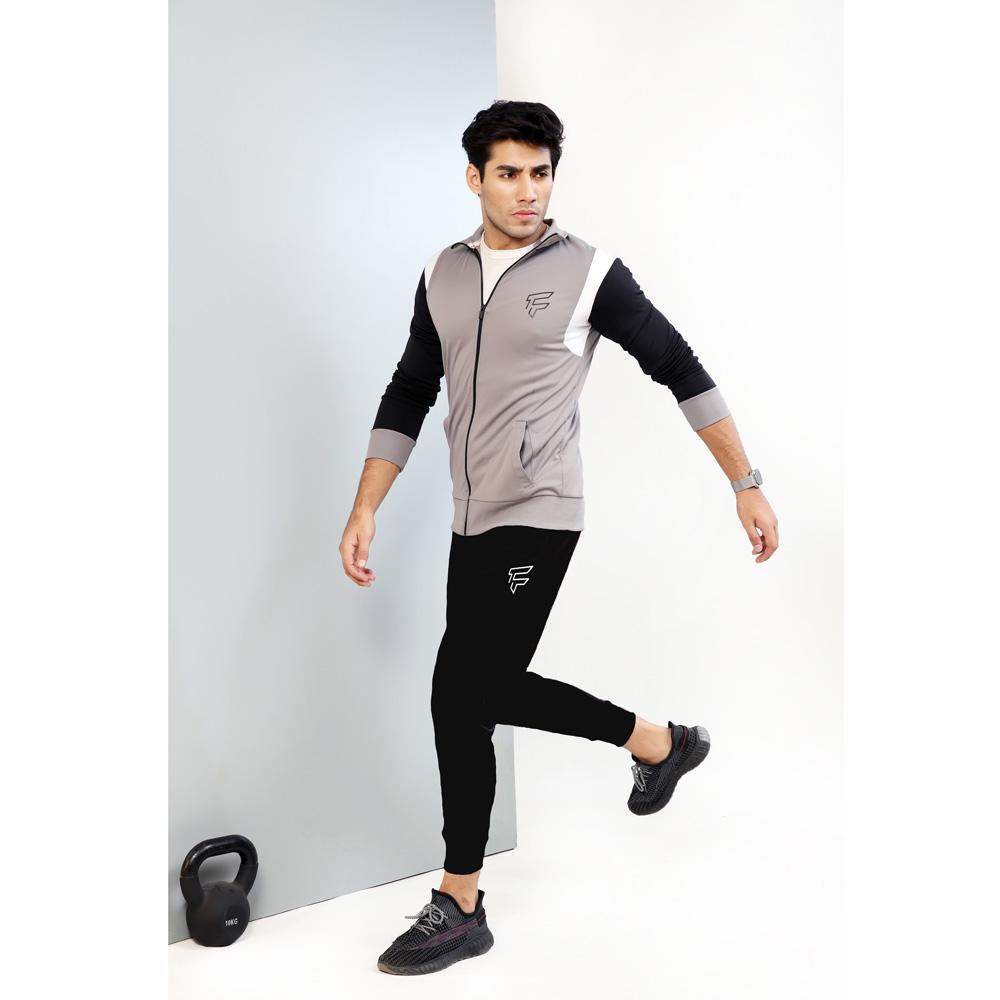 Grey Symmetric TrackSuit Men's Tracksuit FitKit Small