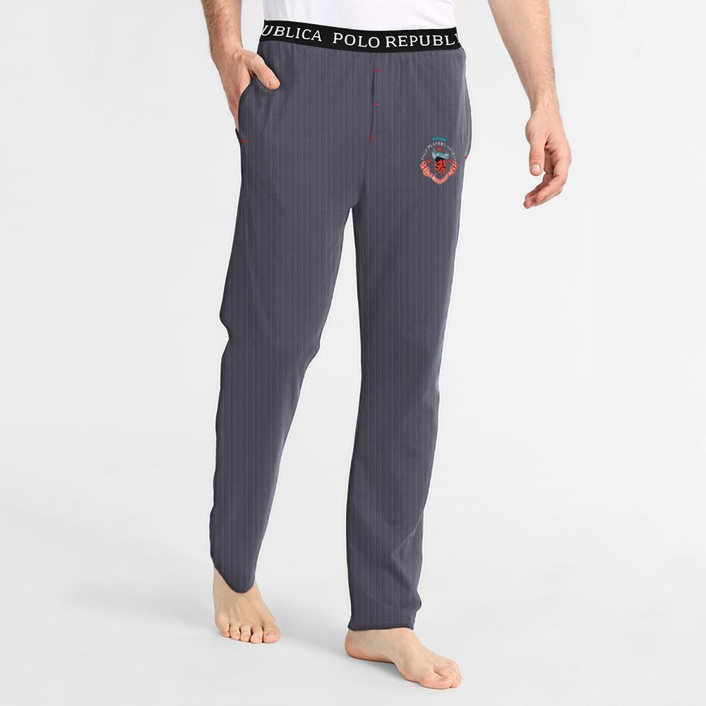 Polo Republica Player Society 1985 Thermal Lounge Pants Men's Sleep Wear Polo Republica Jeans Marl S