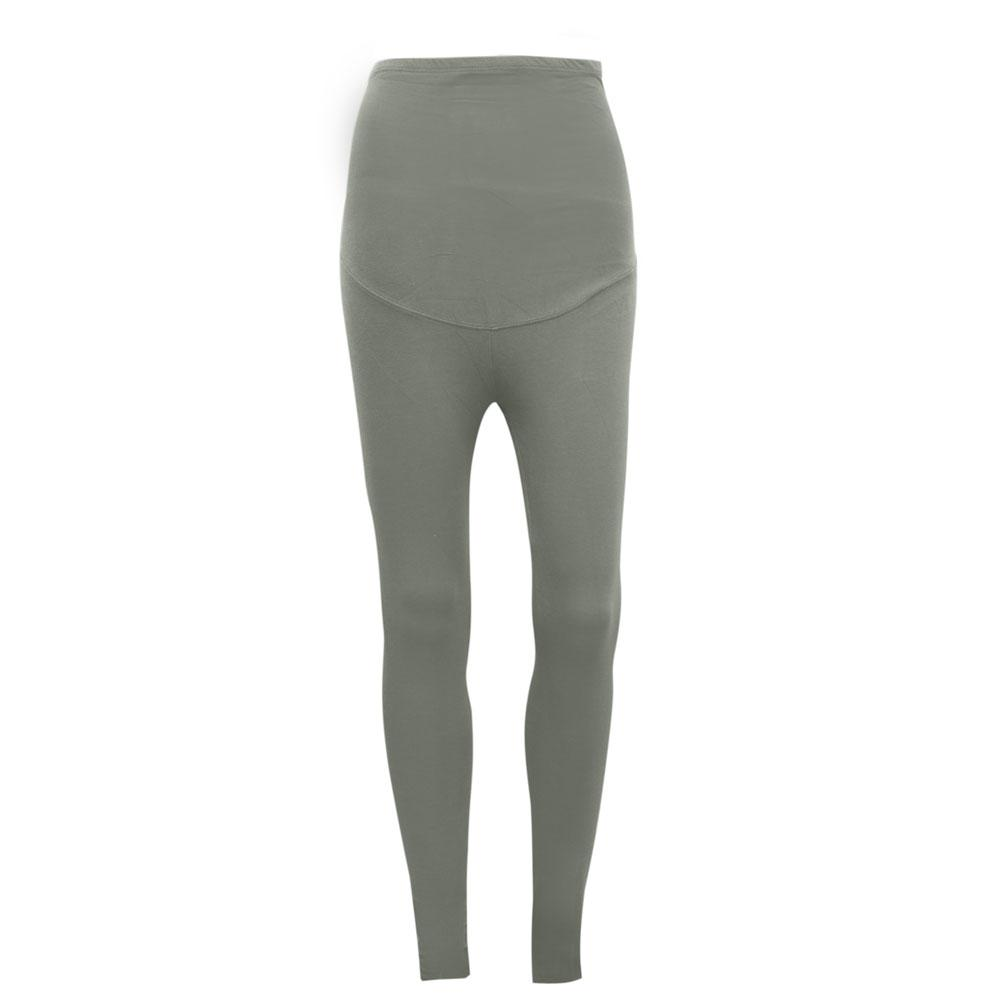 KA Women's Brielle Drop Waist Solid Color Leggings Women's Trousers SRK Light Grey XS