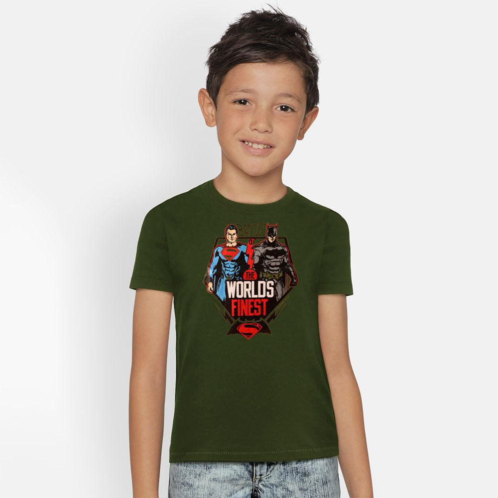 Kid's Classy Printed Tee Shirt Battle Heroes Boy's Tee Shirt SRK Olive Green 9-12 Months