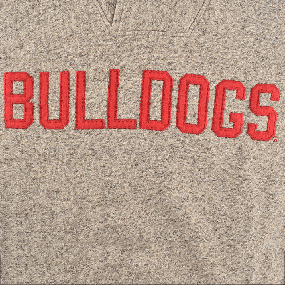 TG (Cut Label) Bulldogs Ladies Mock Neck Fleece Sweat Shirt Men's Sweat Shirt MAJ