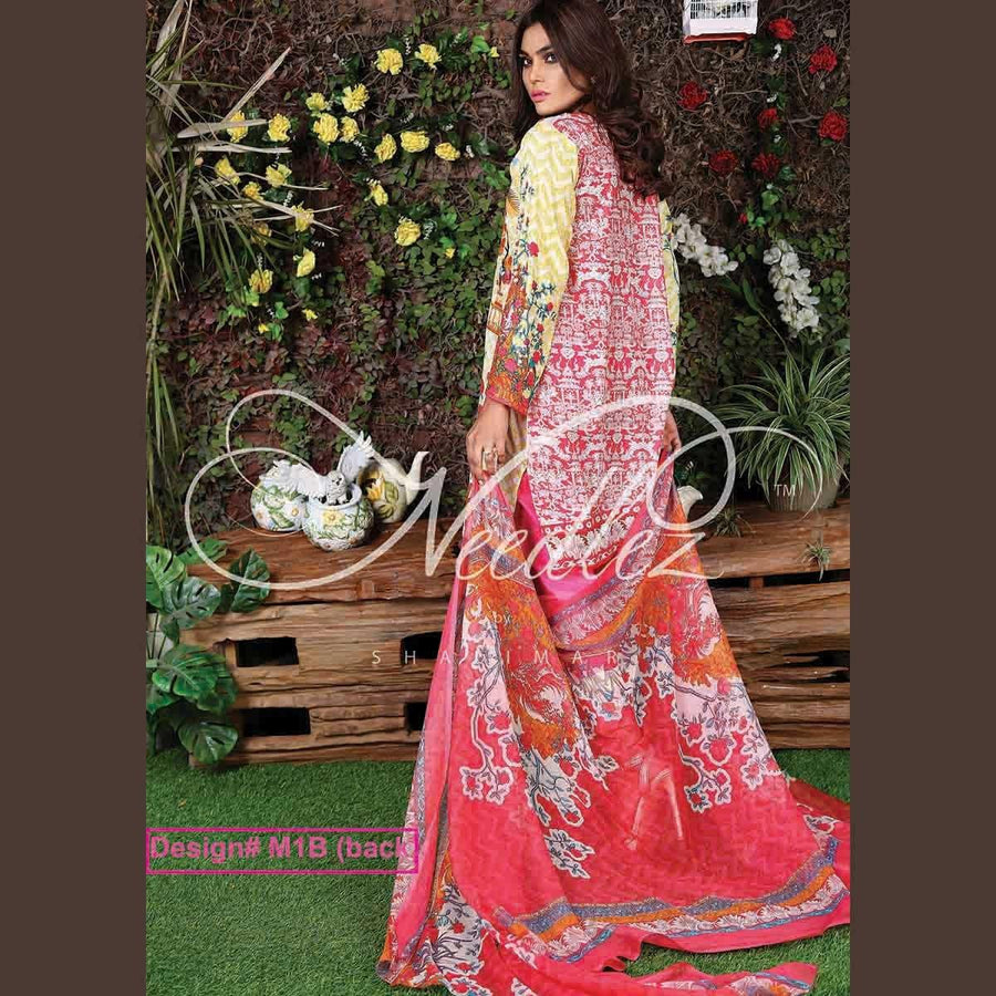 Needlez by Shalimar Unstitched Destic Misha Lawn Embroidery Suit