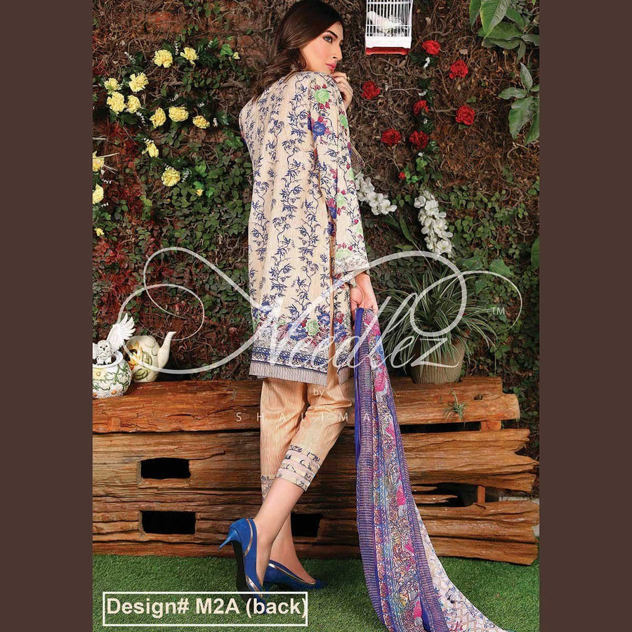 Needlez by Shalimar Unstitched Mamit Misha Lawn Embroidery Suit