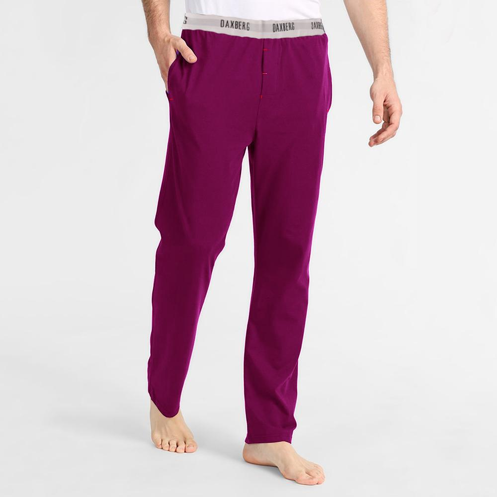 Polo Republica Men's 19-31A20 Pique Casual Lounge Pants Men's Sleep Wear Polo Republica Daxberg Magenta S