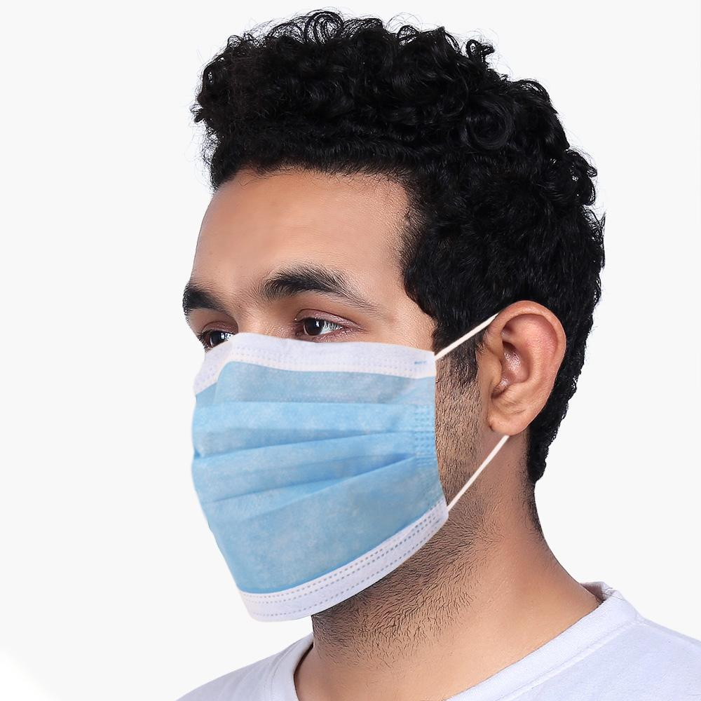Disposable Protective Surgical Nose Pin Mask With Fully Ultrasonic, Pack of 50 Face Mask MHJ