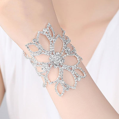 Mecresh Floral Bridal Crystal Bracelet Jewellery Sunshine China