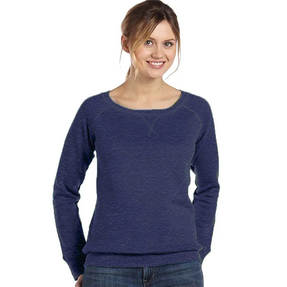RS Cut Label Women's Lithe Fleece Sweat Shirt Women's Sweat Shirt Fiza Blue Marl S