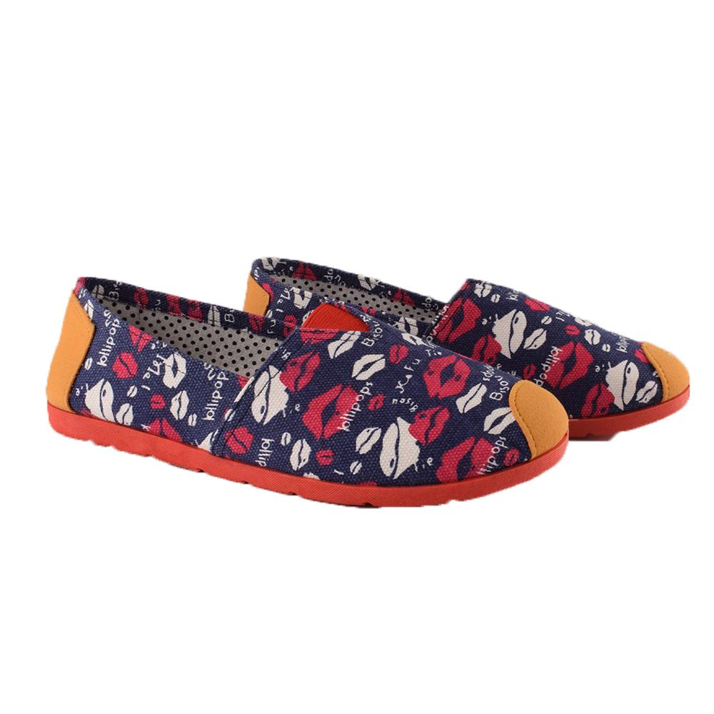 Women's Lolipoops Light Weight Canvas Loafers Unisex Shoes Sunshine China Navy EUR 35