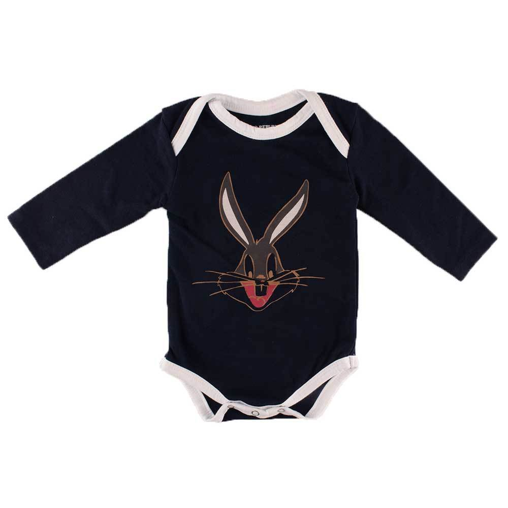 Polo Republica Kid's Looney Tunes Long Sleeve Baby Romper Babywear Polo Republica Navy White 0-3 Months