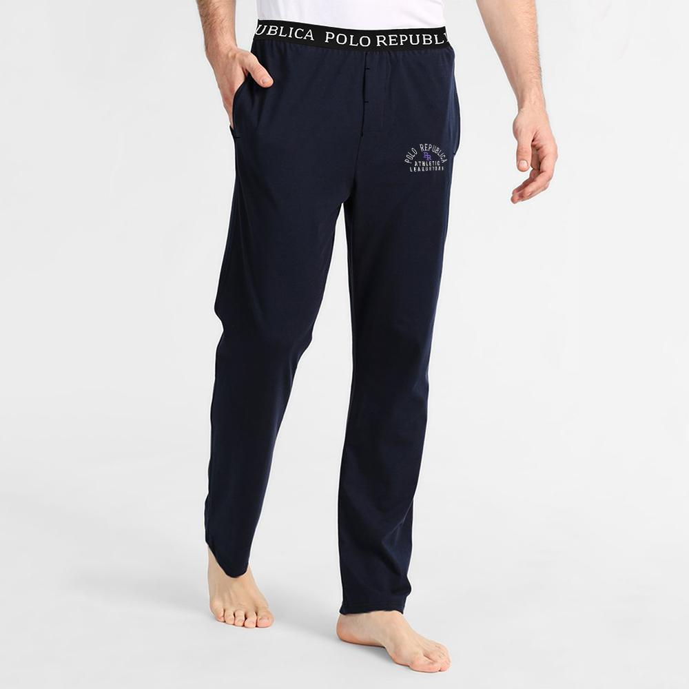 Polo Republica Athletic League Pique Lounge Pants Men's Sleep Wear Polo Republica Navy S