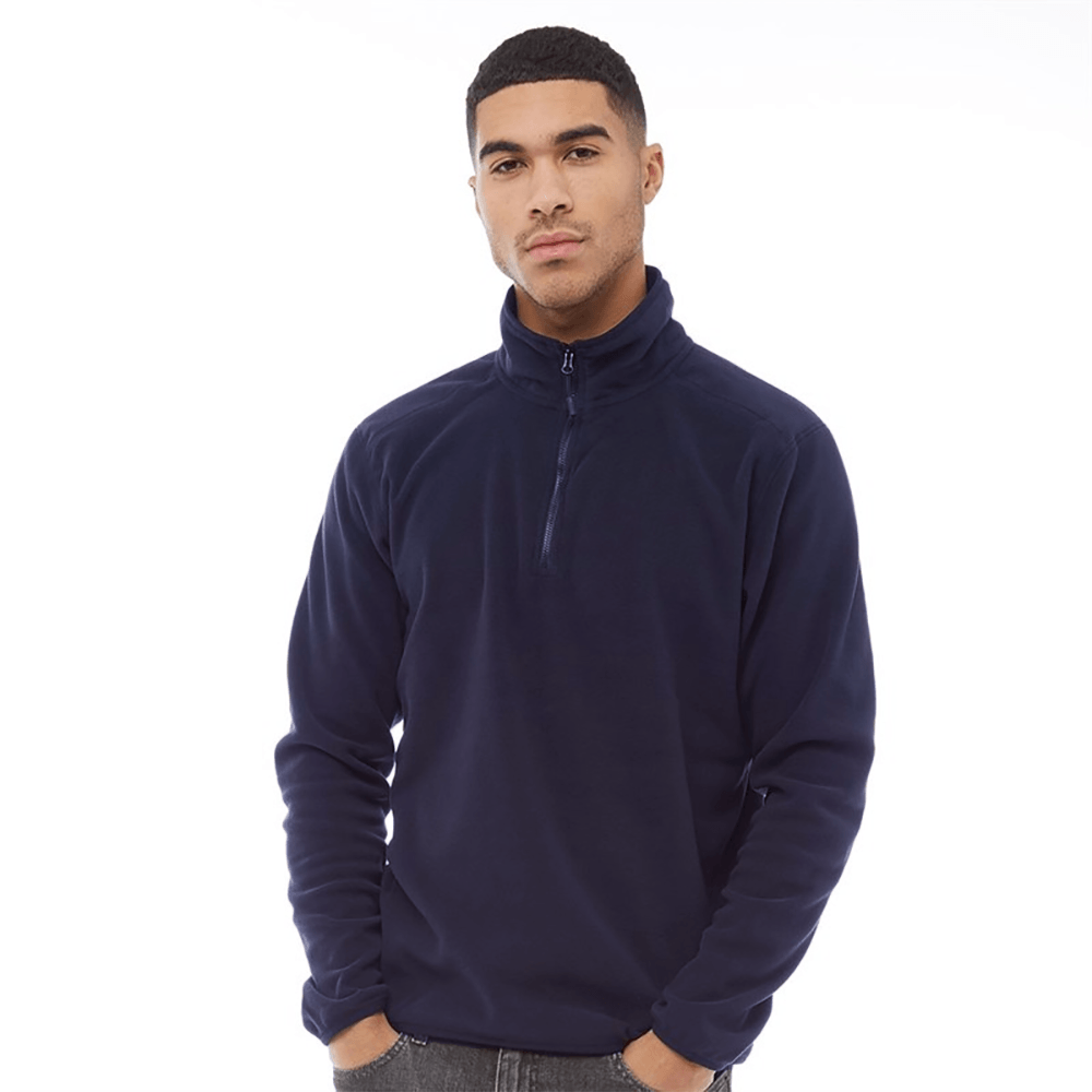 BRP Men's 2-21A20 1/4 Polar Fleece Sweatshirt Men's Sweat Shirt Image Navy S
