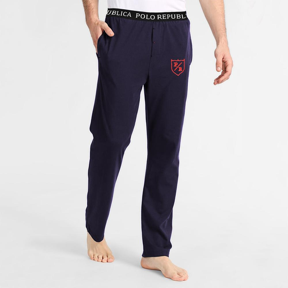 Polo Republica Men's Exquisite Embro Lounge Pants Men's Sleep Wear Polo Republica Navy S
