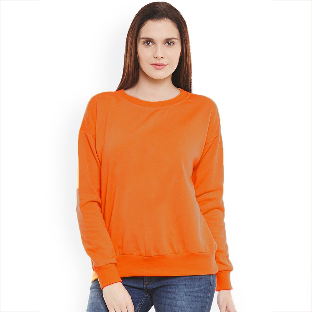 SK Women's Cut Label Deluxe Fleece Sweatshirt Women's Sweat Shirt SRK Orange S
