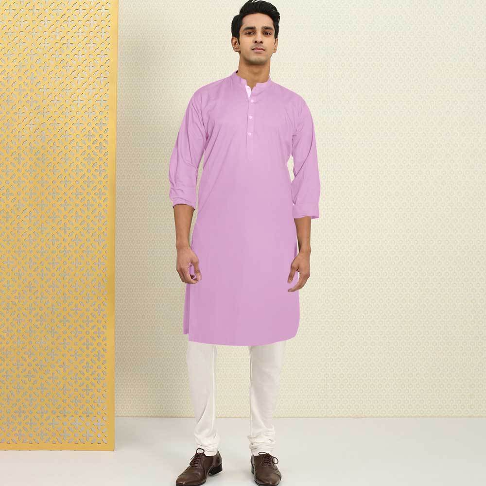 Polo Republica Men's Isfahan Stitched Kurta Men's Kurta RDS Pink S