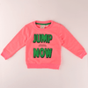 ZR Kid's Jump Now Terry Sweat Shirt Boy's Sweat Shirt First Choice Pink 3-6 Months