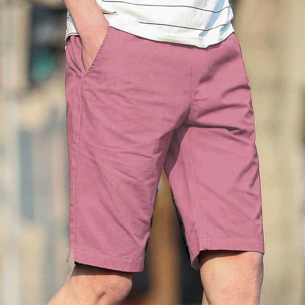 Men's Manila Plain Casual Shorts Men's Shorts UMAR TRADERS Pink 34