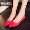Pointy Toe Velvet Ballet flat Shoes Women's Shoes Sunshine China Pink EUR 35