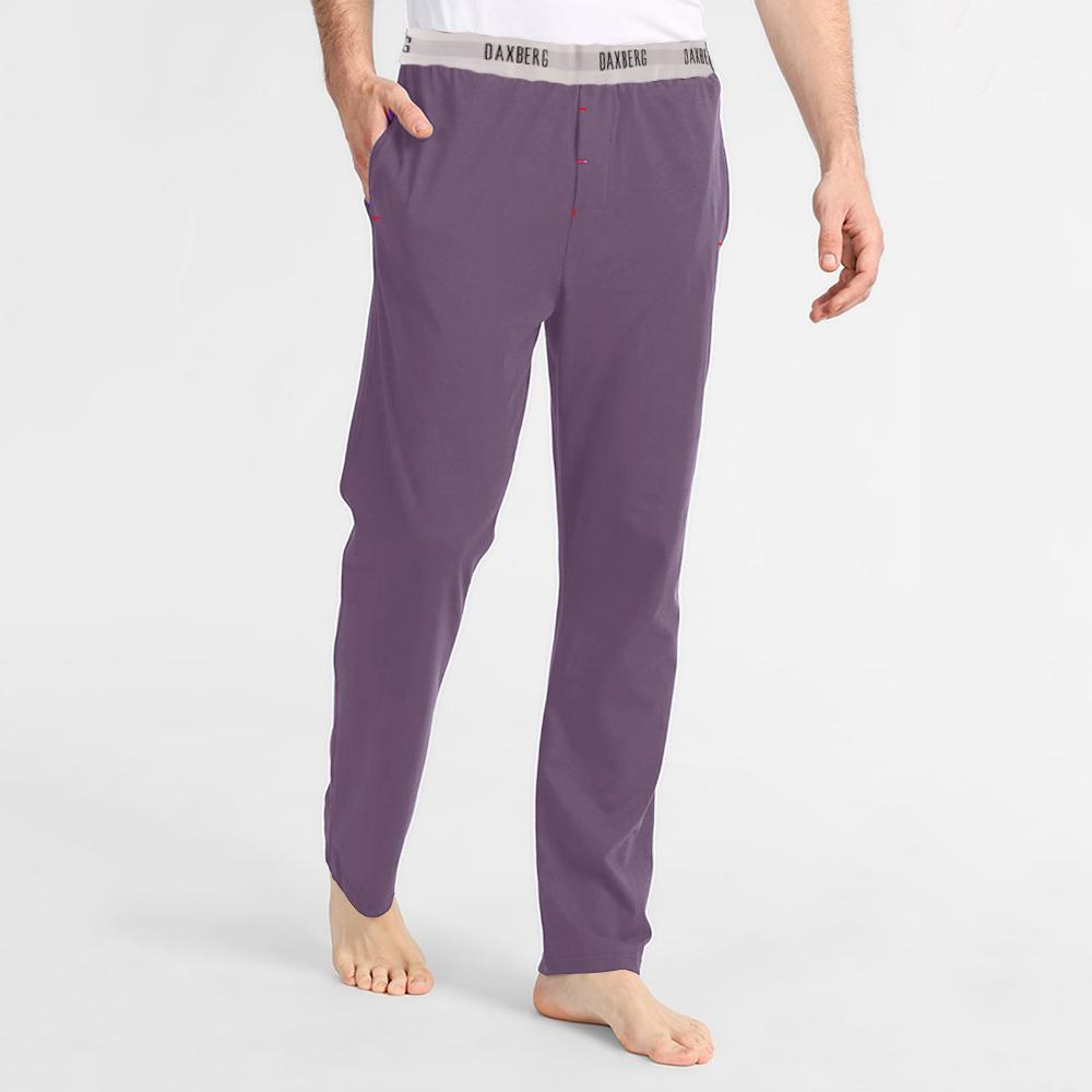 Polo Republica Men's 19-31A20 Pique Casual Lounge Pants Men's Sleep Wear Polo Republica Daxberg Powder Purple S