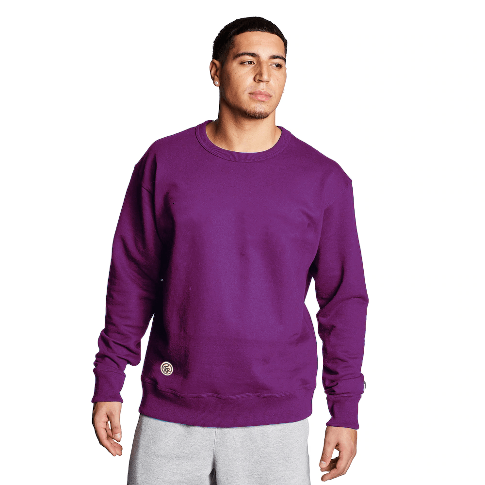 FR Cut Label Men's Placid Fleece Sweat Shirt Men's Sweat Shirt Fiza Purple S