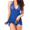 Erotic Robe Sheer Babydoll See Through Lace Nighty Women's lingerie Sunshine China Royal S