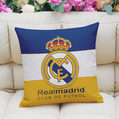 Football Club Composite Linen Cushion Cover Cushion Cover Sunshine China Real Madrid