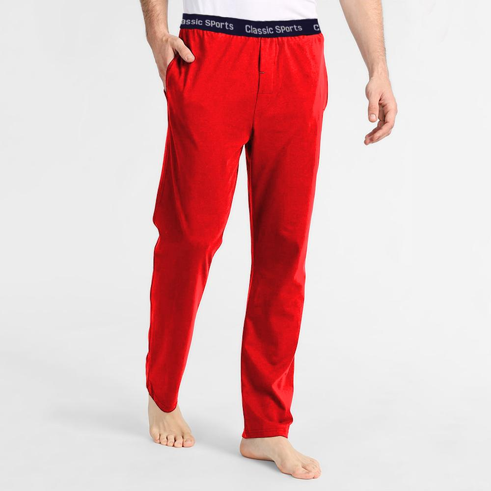 Polo Republica Men's 19-31A20 Pique Casual Lounge Pants Men's Sleep Wear Polo Republica Classic Sports Red S