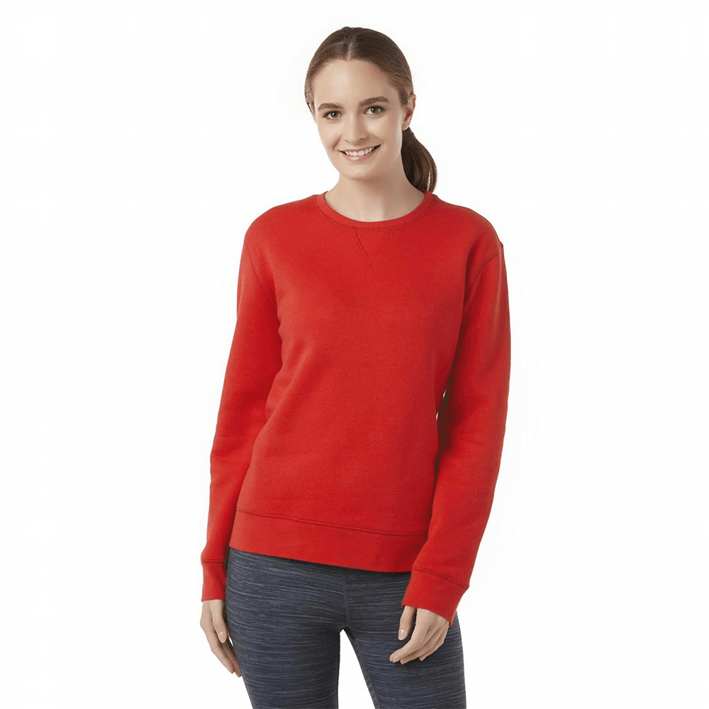 TRA Cut Label Women's Stunning Fleece Sweat Shirt Women's Sweat Shirt Fiza Red XS