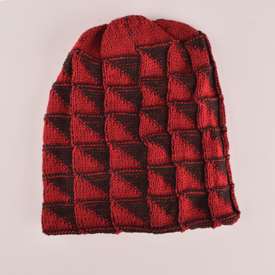 MB Mellow Winter Knitted Beanie Cap Unisex Beanie MB Traders Red