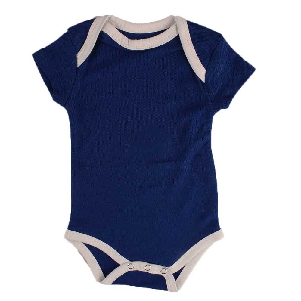 Polo Republica Tennessee Pique Short Sleeve Romper Babywear Polo Republica Royal White 0-3 Months