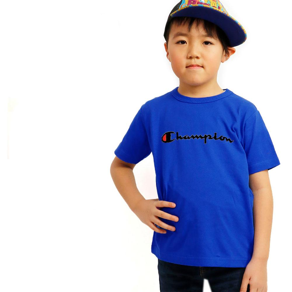 Boy's Champion Crew Neck Tee Shirt Boy's Tee Shirt Fiza Royal Blue XS