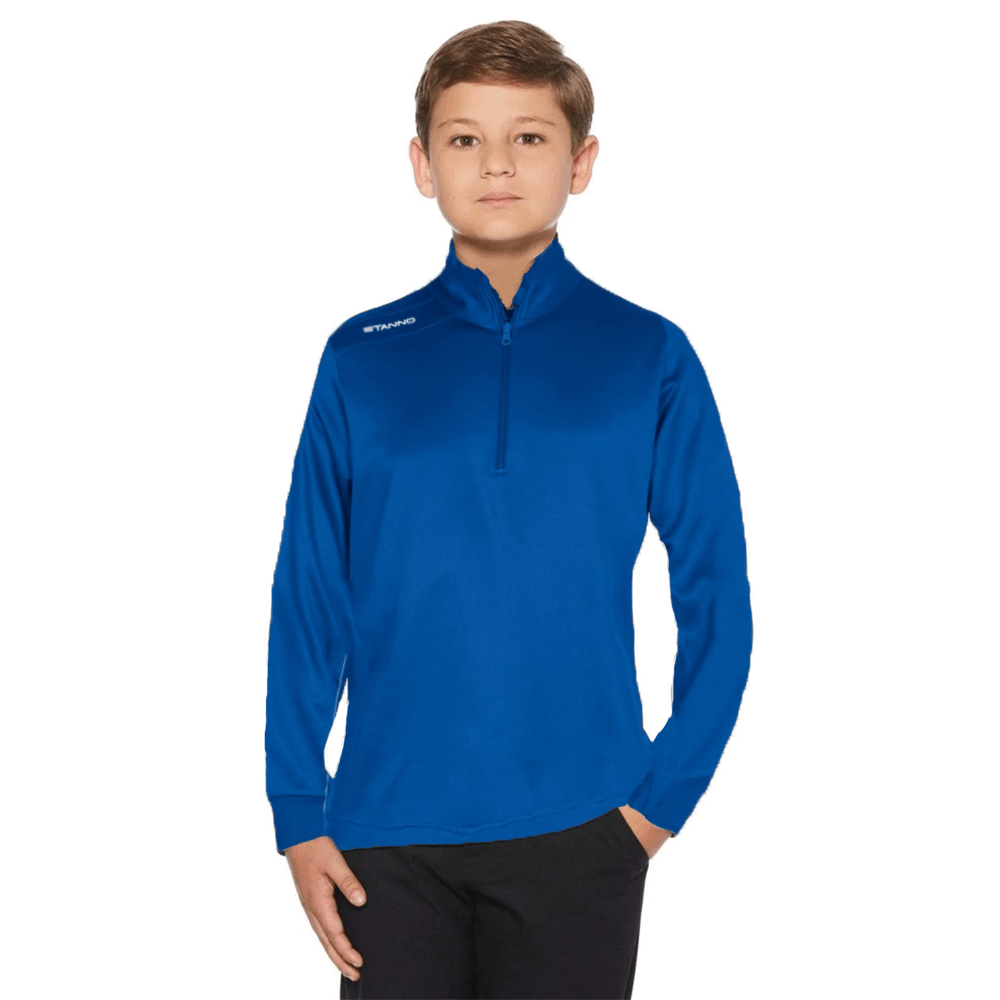 STNO Boy's Activewear 1/4 Zipper Poly Sweatshirt Boy's Sweat Shirt SRK Royal 128