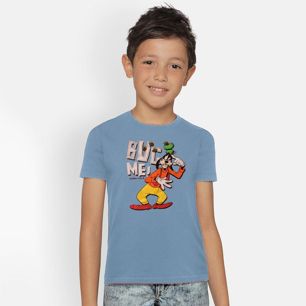 Kid's Classy Printed Tee Shirt Goofy Boy's Tee Shirt SRK Powder Blue 9-12 Months