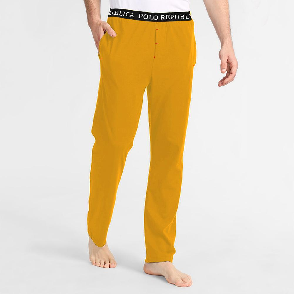 Polo Republica Men's Vodice Casual Pique Lounge Summer Pants Men's Sleep Wear Polo Republica Sunny Yellow S