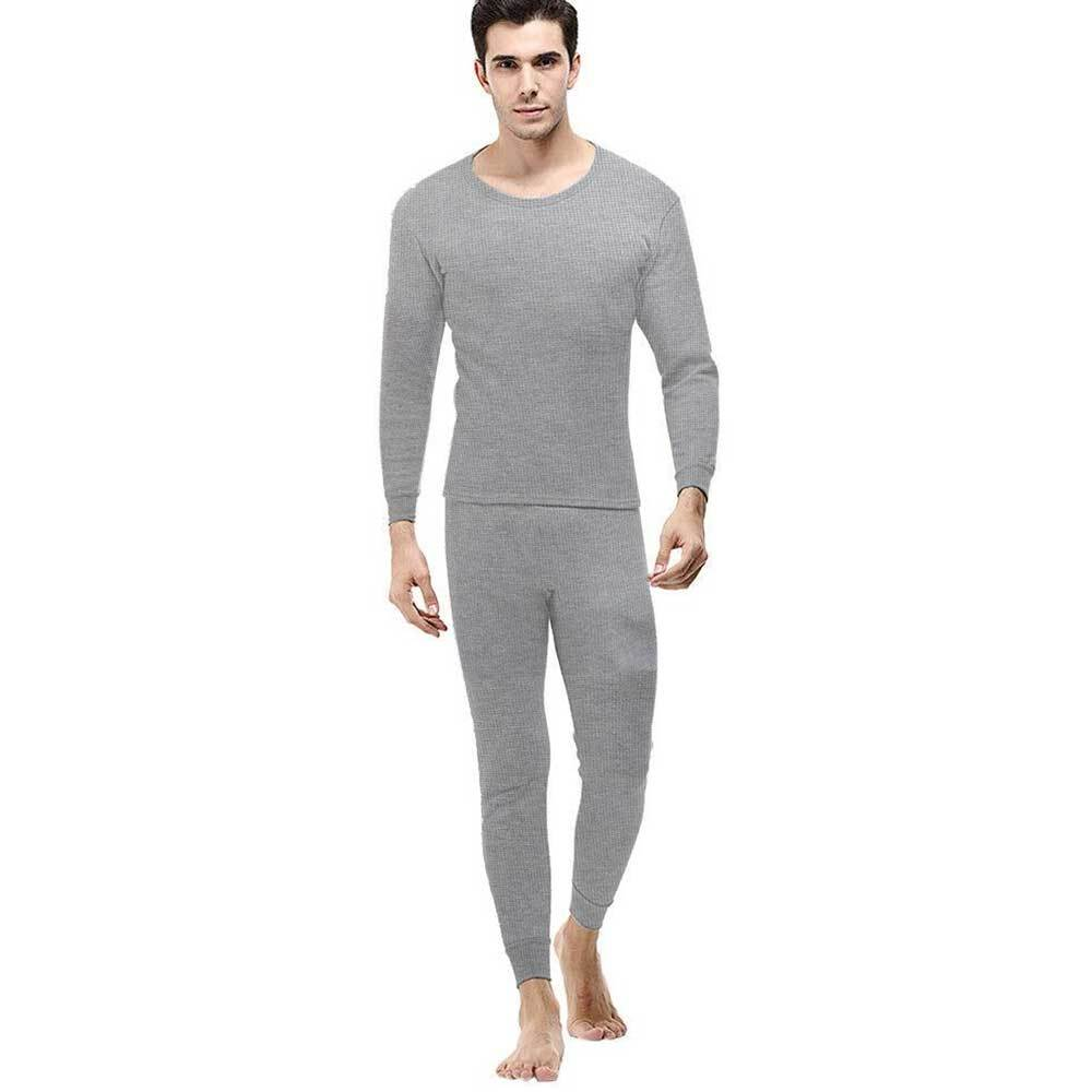 Jake Austin Men's Mild Long Sleeve Sleeping Suit Men's Sleep Wear SRK Heather Grey M