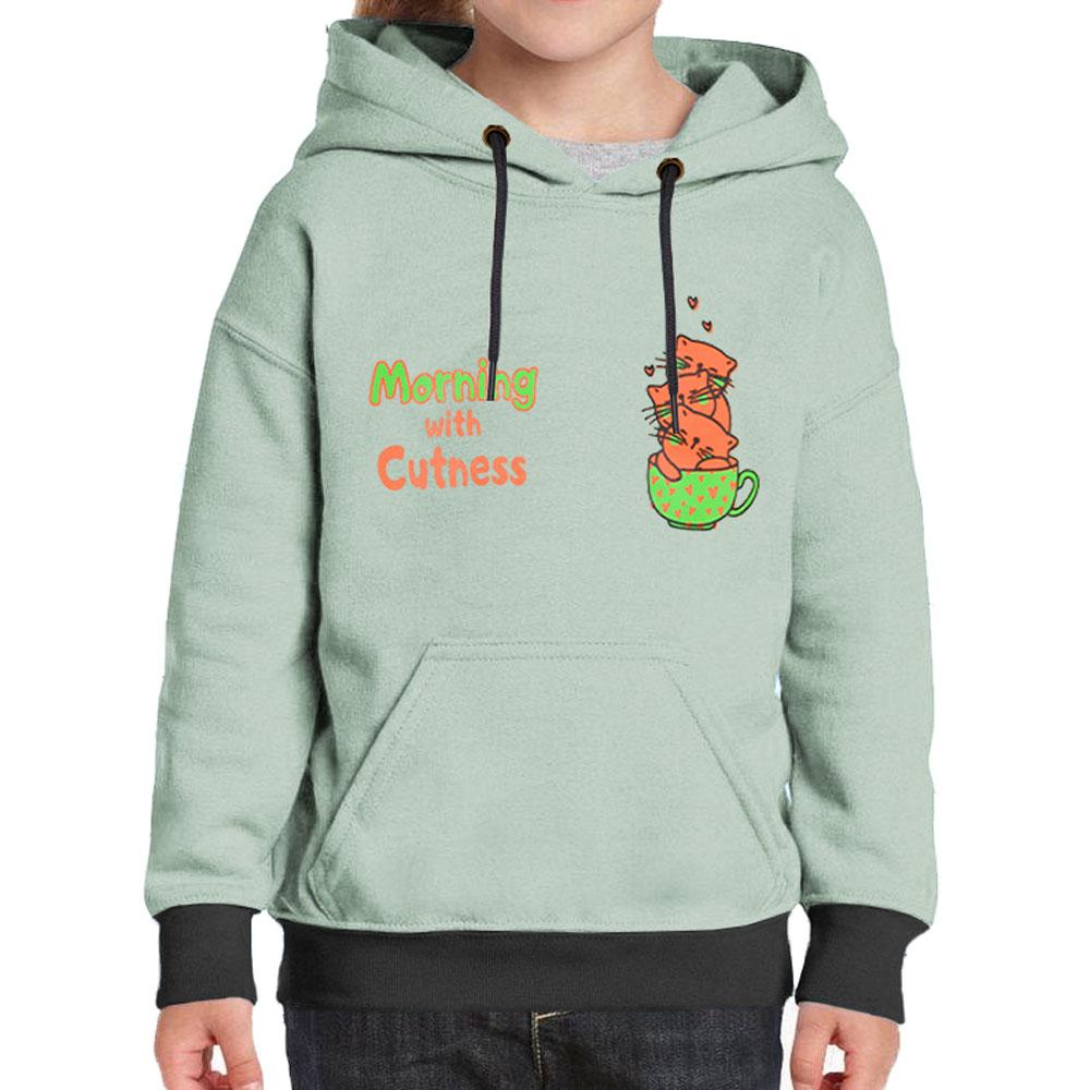 Kids Molo Morning With Cuteness Pullover Hoodie Boy's Pullover Hoodie UMAR TRADERS