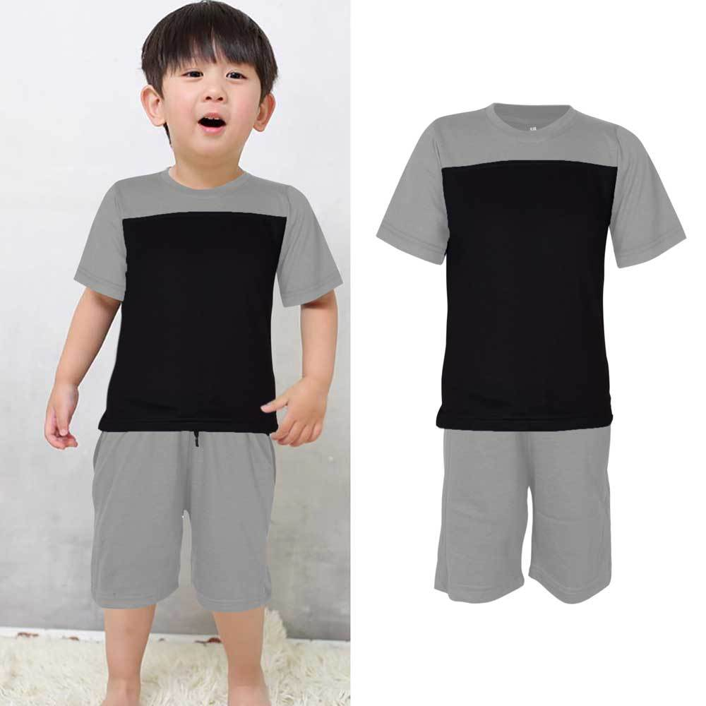 Kids Contrast 2 Pcs Summer Suit Boy's Suit Set UMAR TRADERS