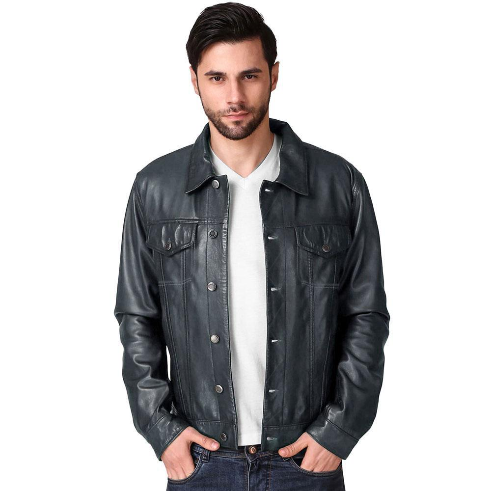 Men's Anchorage Genuine Leather Jacket Men's Jacket SFS