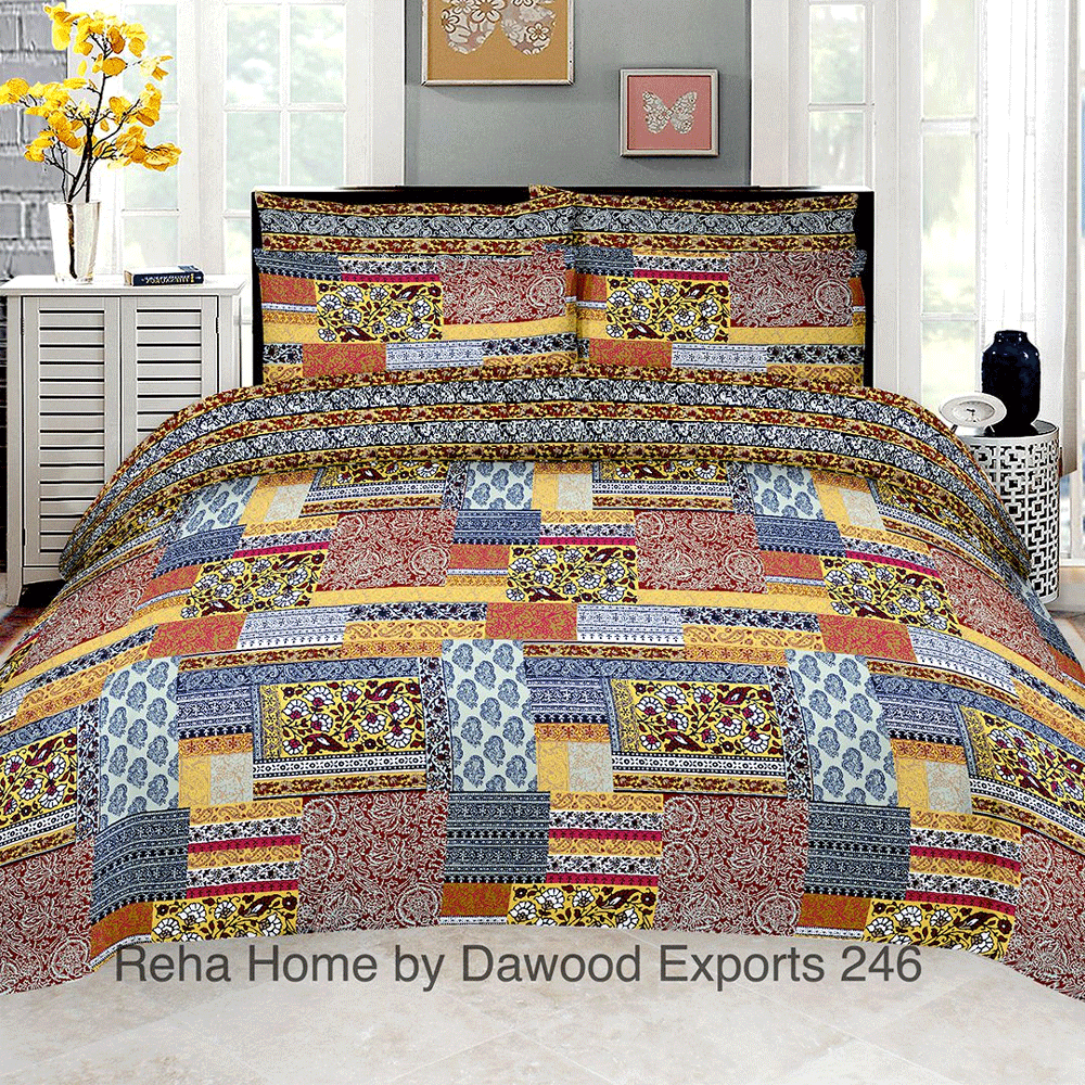 RAH D-246 King Size Bed Sheet Bed Sheet Reha Home