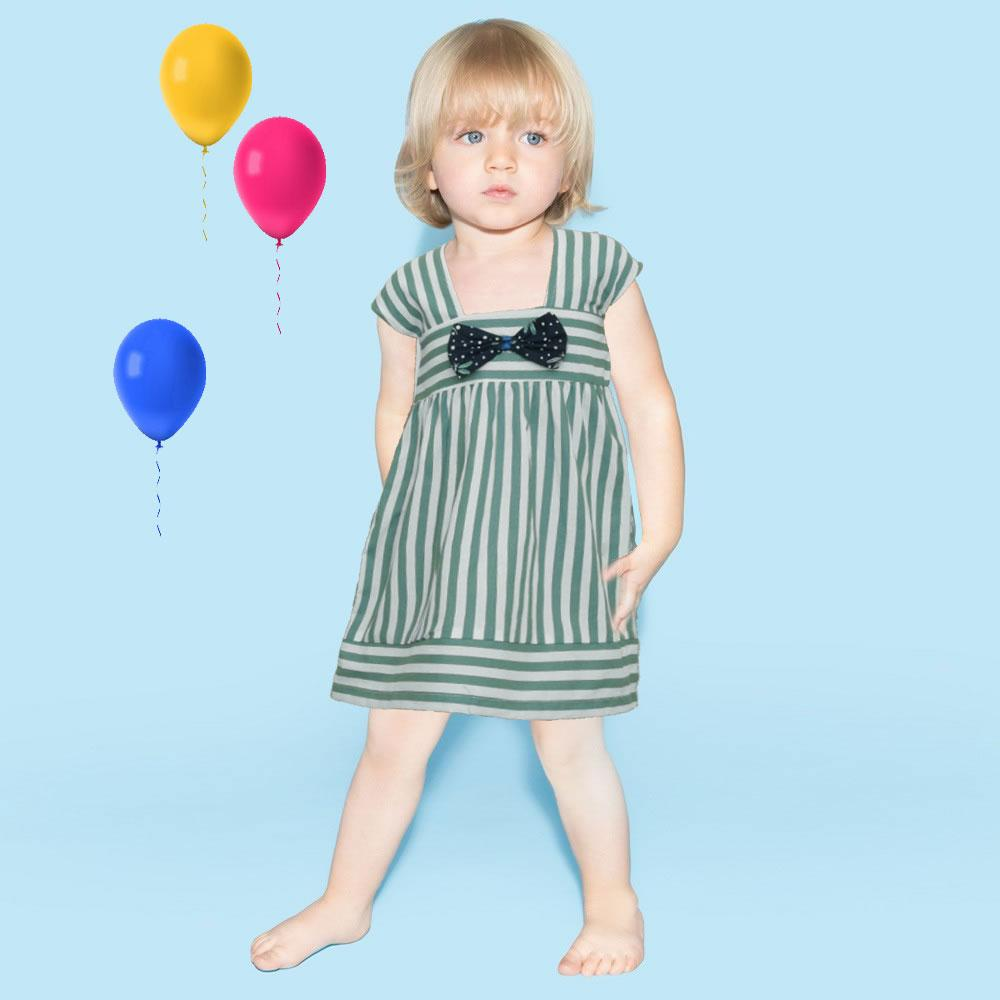 Safina Kid's Krouthen Bow Tie Frock Girl's Frock Bohotique 2-3 Years