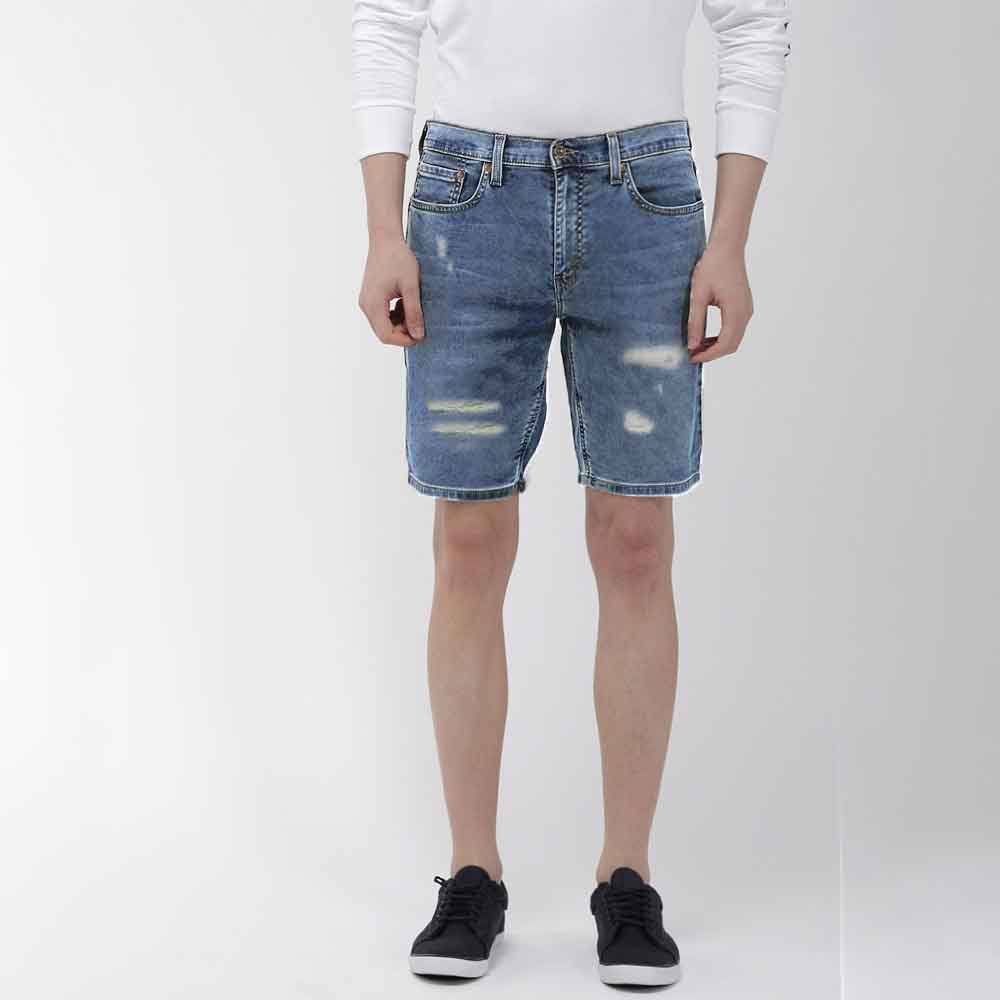 RHD Men's Bacabal Ribbed Denim Shorts Men's Shorts SRK Blue 28 20
