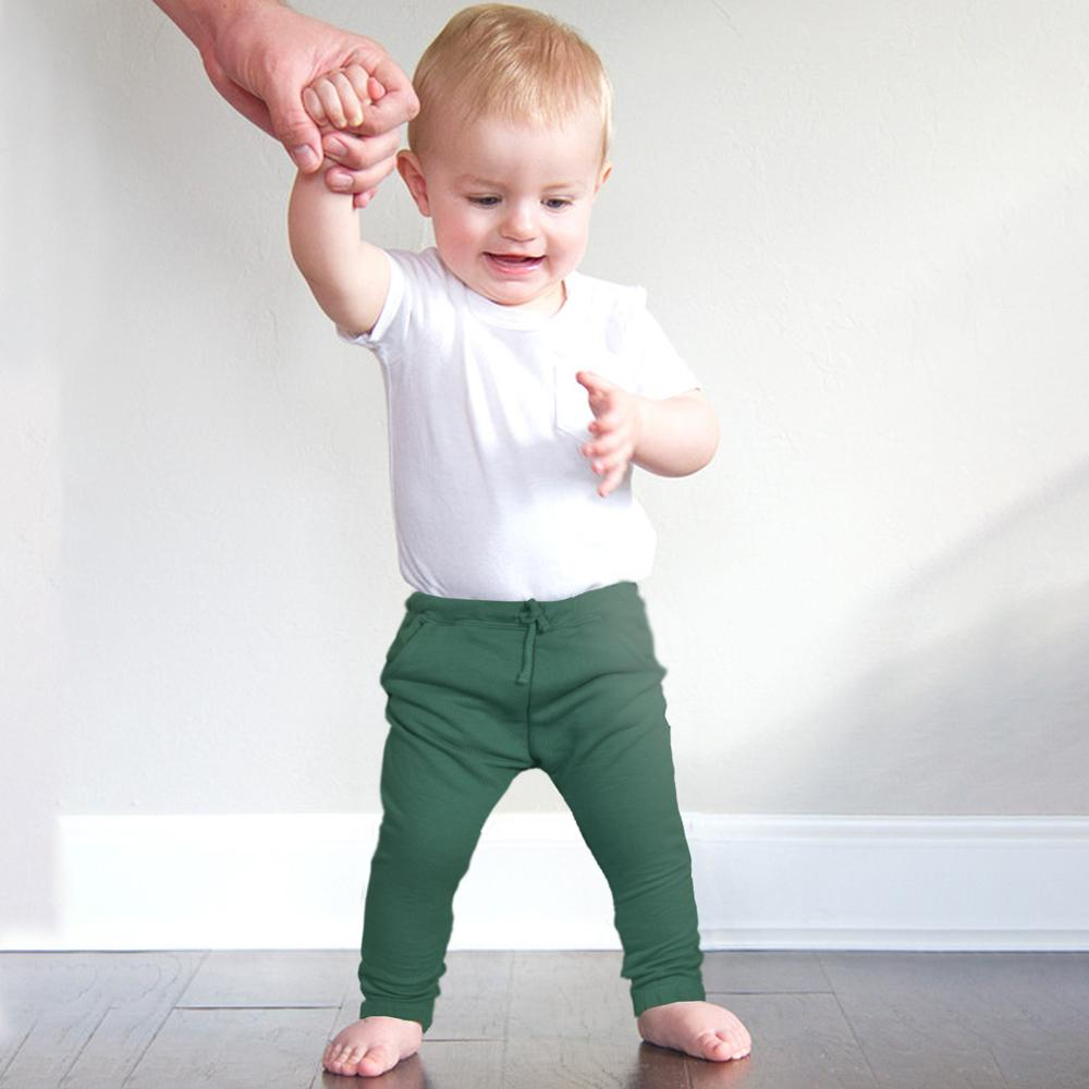 Genuine ZR Kids Trenton Terry Jogger Pants Boy's Trousers SRK Green 3-6 Months