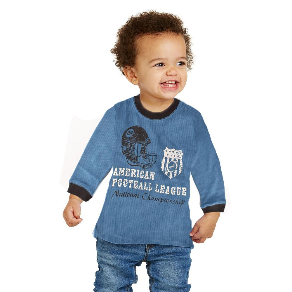 OT Kid's American Football League Thermal Sweat Shirt Boy's Sweat Shirt First Choice XS