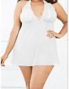 Erotic Robe Sheer Babydoll See Through Lace Nighty Women's lingerie Sunshine China White S