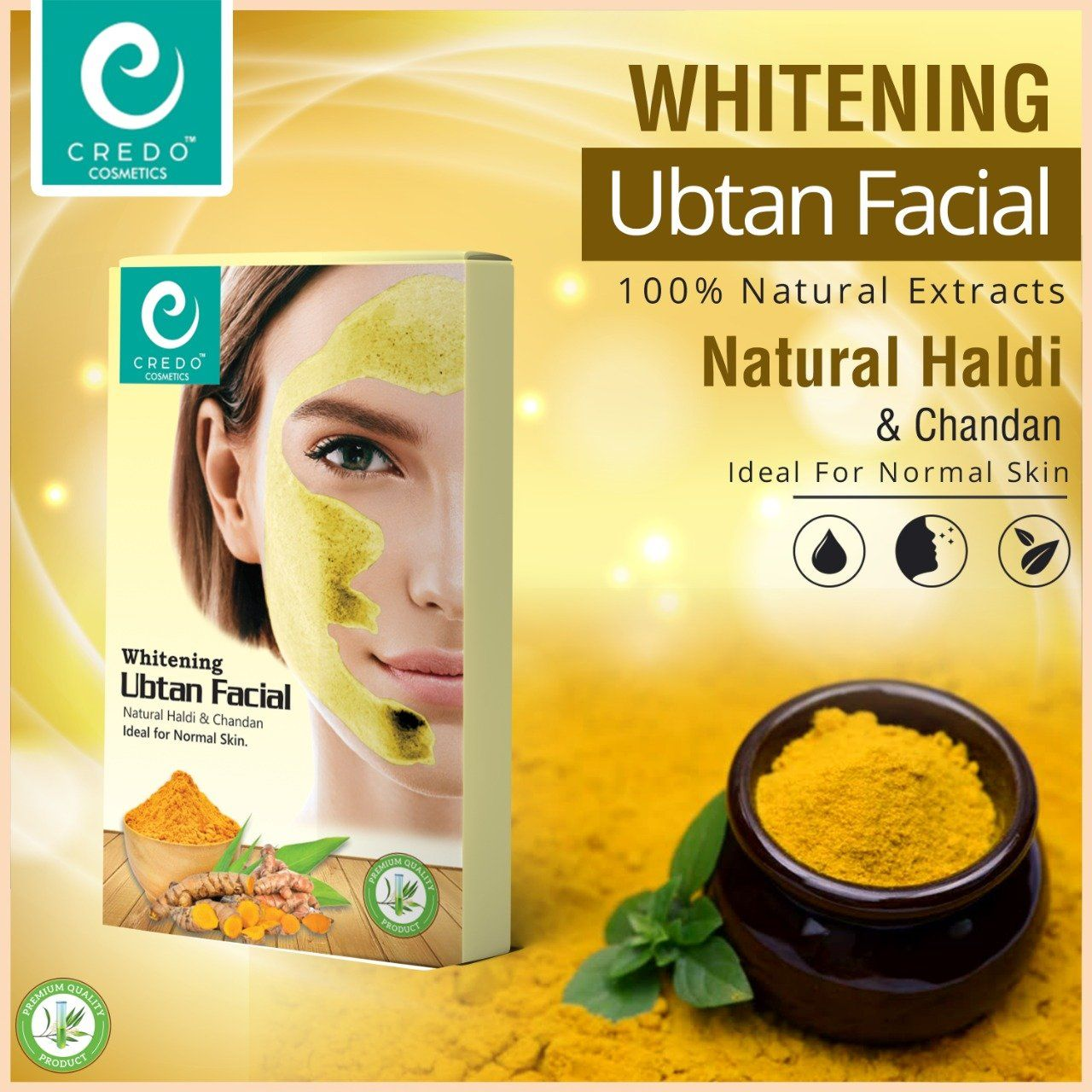 Credo Whitening Ubtan Facial Health & Beauty Credo Cosmetics