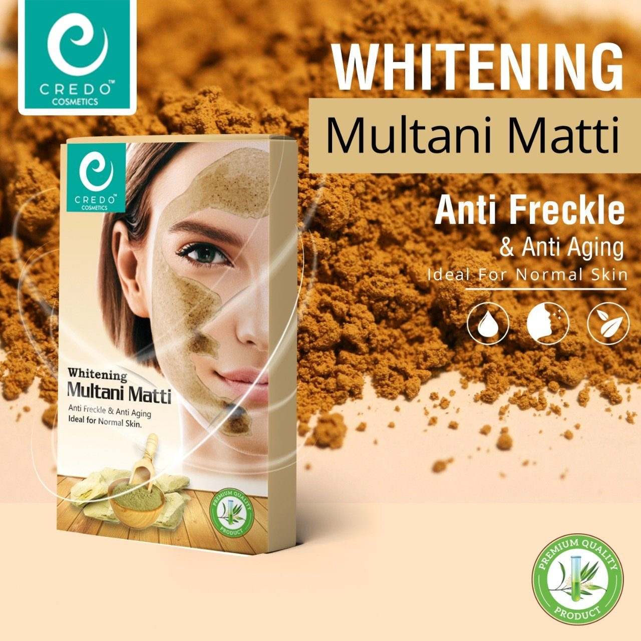 Credo Whitening Multani Matti Health & Beauty Credo Cosmetics