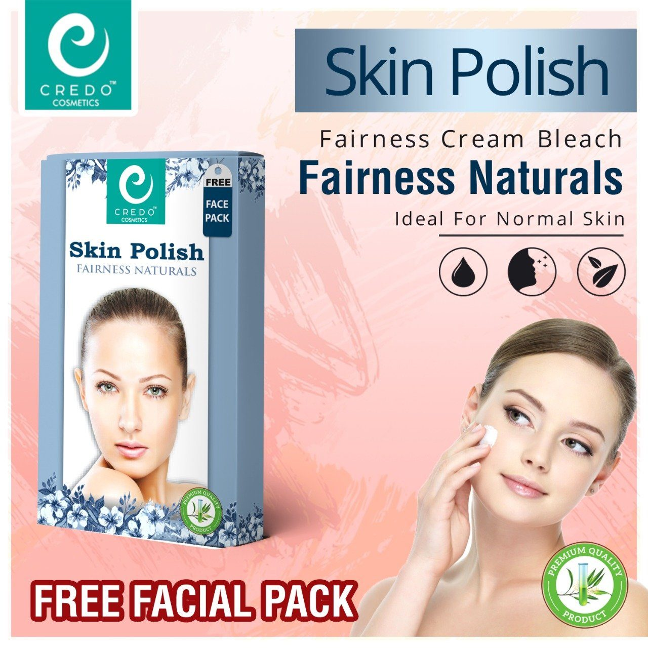 Credo Skin Polish Fairness Naturals With Free Face Pack Health & Beauty Credo Cosmetics