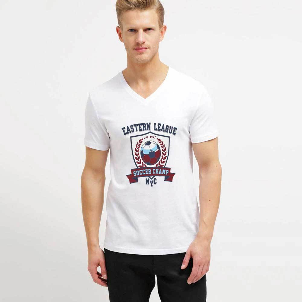 Men's Eastern League Single Jersey Tee Shirt Men's Tee Shirt Image White S