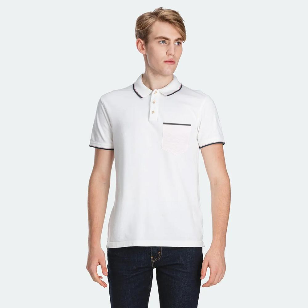 Men's Montpelier Tipped Polo Shirt Men's Polo Shirt SRK White M